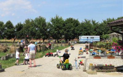 Děti z Ostrůvku v Olomouci poprvé zažily díky dobrovolnicím Maltézské pomoci blízké setkání s hospodářskými zvířaty, například si pohladily telátko