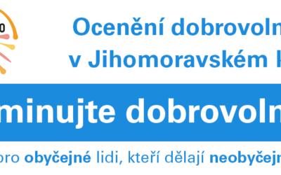 Nominujte významné dobrovolníky na cenu Křesadlo 2019 v Jihomoravském kraji!