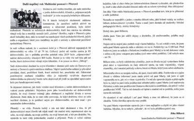 Ve farním časopise přerovské farnosti Rošťák vyšel v říjnu článek o Maltézské pomoci